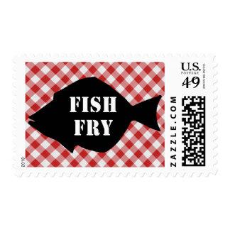 Pescados Silo en la fritada de pescado roja y Sellos Postales
