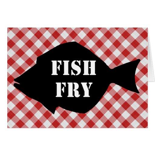 Pescados Silo en la fritada de pescado roja y Tarjeta De Felicitación