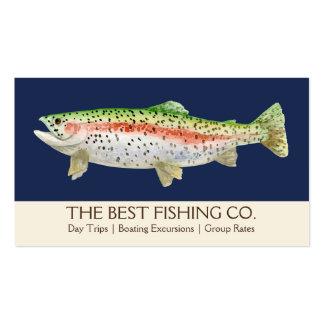 Pescados simples del negocio de la guía del barco tarjeta de visita