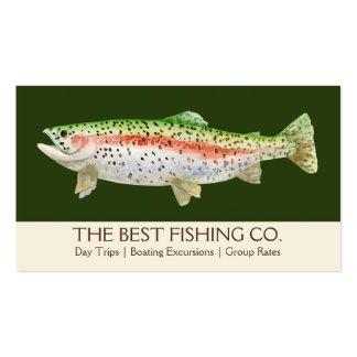 Pescados simples del negocio de la guía del barco tarjetas de visita