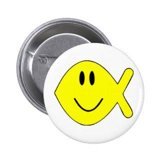 pescados sonrientes 1 pin redondo de 2 pulgadas