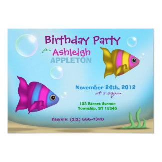 Pescados subacuáticos - invitaciones de la fiesta anuncio personalizado