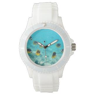 Pescados subacuáticos tropicales relojes de mano