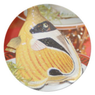 Pescados taiwaneses plato para fiesta