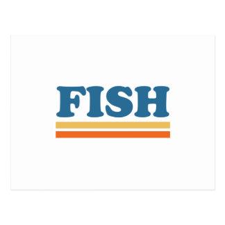 pescados tarjetas postales