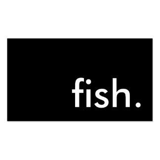 pescados tarjetas de visita