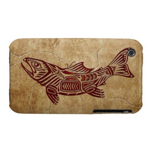 Pescados tribales de piedra iPhone 3 cobertura