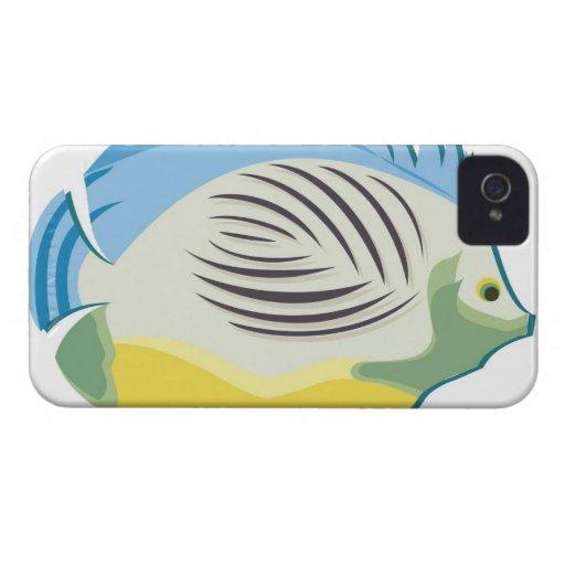Pescados tropicales 2 iPhone 4 Case-Mate cárcasa