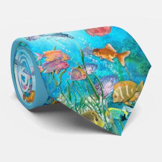 Pescados tropicales corbatas personalizadas