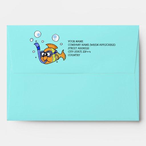 pescados tropicales del dibujo animado sobres