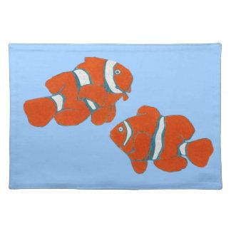 pescados tropicales del payaso del agua salada mantel individual