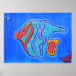 Pescados tropicales Impresión-Vibrantes del poster