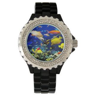 Pescados tropicales para hombre relojes de mano