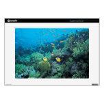 Pescados tropicales que nadan sobre el filón portátil calcomanía