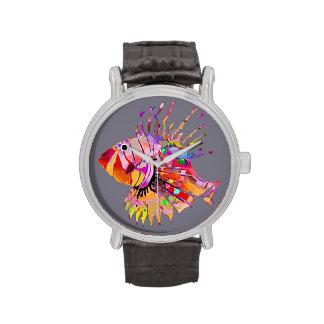 Pescados tropicales relojes