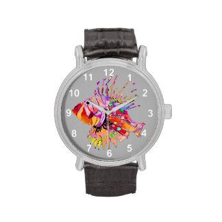 Pescados tropicales relojes de mano