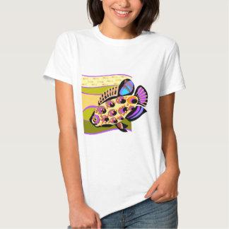 Pescados tropicales retros coloridos camisas