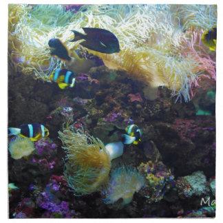 Pescados tropicales servilletas de papel