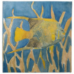 pescados tropicales servilletas imprimidas