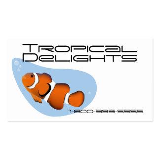 Pescados tropicales tarjeta personal