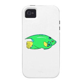 Pescados verdes del ángel iPhone 4/4S carcasa