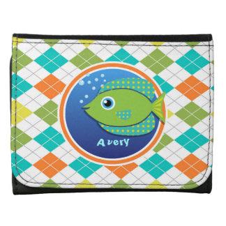 Pescados verdes en el modelo colorido de Argyle