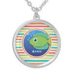 Pescados verdes; Rayas brillantes del arco iris Joyerias Personalizadas