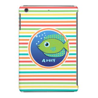 Pescados verdes Rayas brillantes del arco iris Funda De iPad Mini