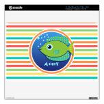 Pescados verdes; Rayas brillantes del arco iris MacBook Air Calcomanías