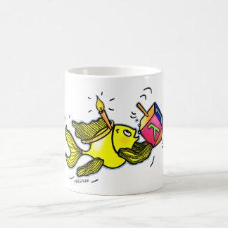 Pescados vivarachos de Hanuka - regalo cómico del Taza Mágica