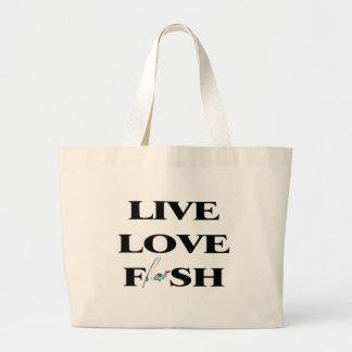 Pescados vivos del amor bolsa de mano