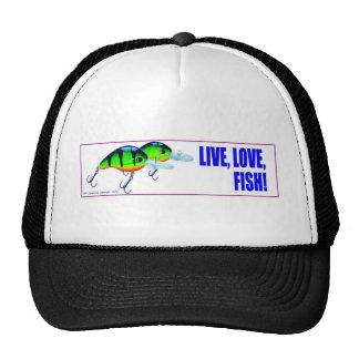 Pescados vivos del amor gorros