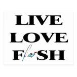 Pescados vivos del amor postal