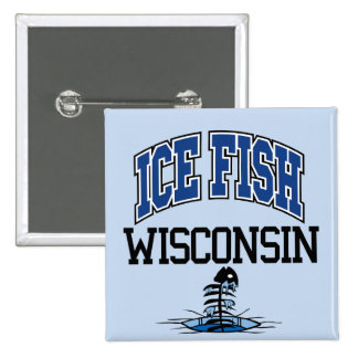 Pescados Wisconsin del hielo Pins