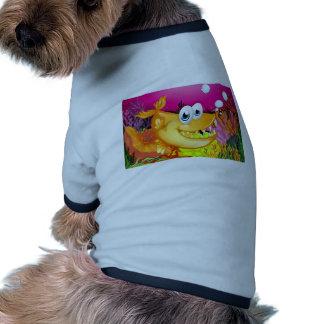 Pescados y arrecife de coral camiseta con mangas para perro