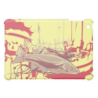 Pescados y barcos en amarillo