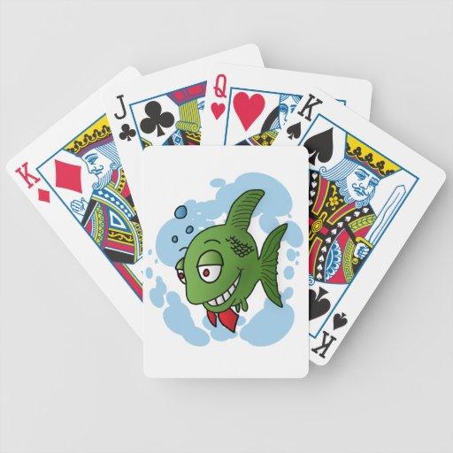 Pescados y burbujas baraja de cartas