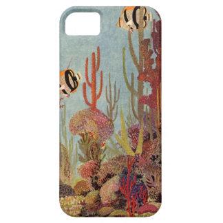 Pescados y coral tropicales del vintage en el iPhone 5 funda