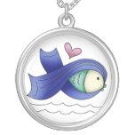 Pescados y corazón azules de la cinta de la concie grimpolas