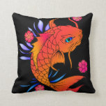 pescados y flores del koi almohada