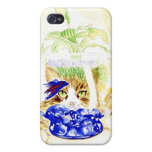 Pescados y gato beta iPhone 4 coberturas