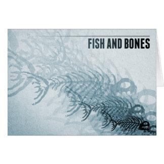 Pescados y huesos tarjeta de felicitación