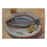 Pescados y limones tarjeta