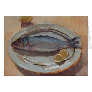 Pescados y limones tarjeta pequeña