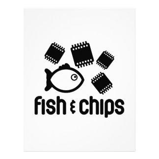 Pescados y microprocesadores membrete