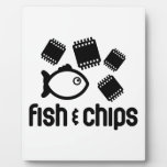 Pescados y microprocesadores placa de plastico