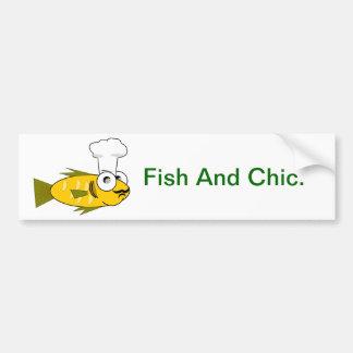 Pescados y moda - etiqueta engomada de parachoques etiqueta de parachoque