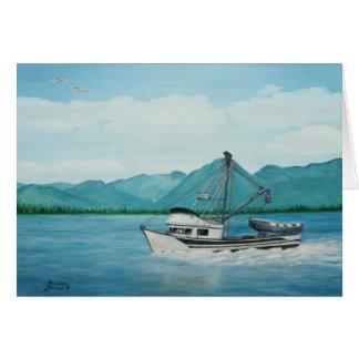 Pescando en Alaska toda la tarjeta de felicitación