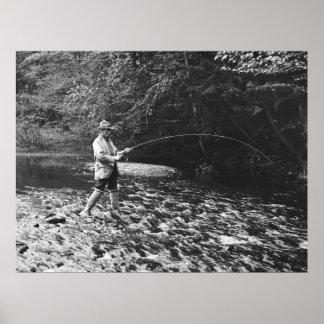 Pescando en la cala de Genegantslet 1890 Posters
