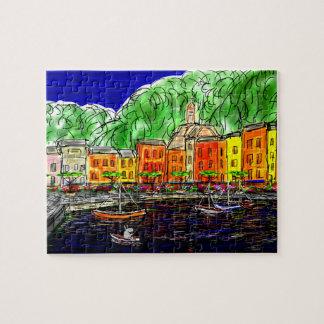 pescando en portofino, Italia Puzzles Con Fotos